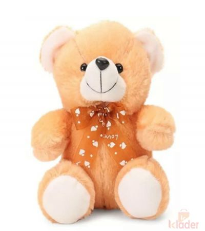 Frantic Soft Toy Teddy Bear Brown Ribben Colour 32 cm