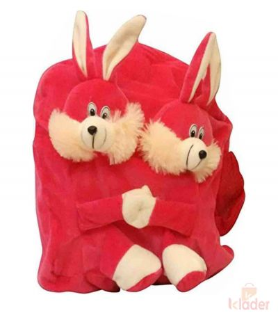 Frantic Soft Toy Plush Bag Dark Pink Rabbit