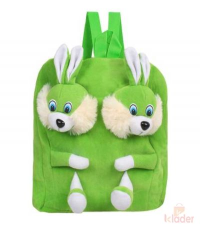Frantic Soft Toy Plush Bag Green Rabbit