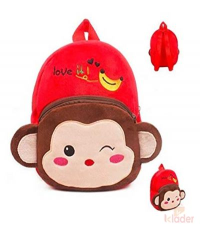 Frantic Soft Toy Plush Bag Red Monkey
