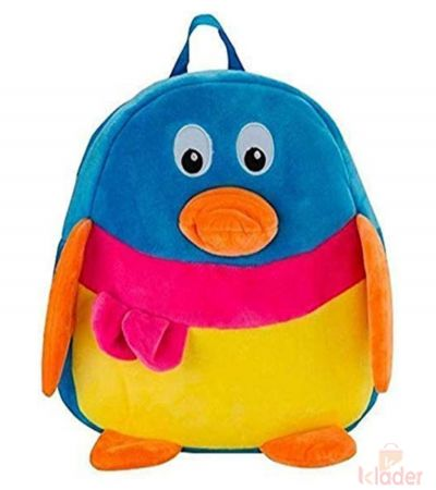 Frantic Soft Toy Plush Bag Old Penguin Multi colour