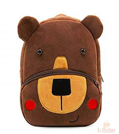 Frantic Soft Toy Plush Bag Brown Bear