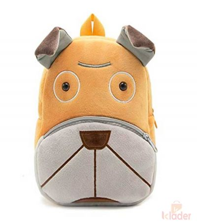 Frantic Soft Toy Plush Bag Brown Sharpai
