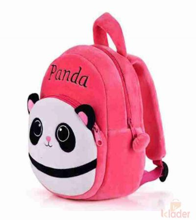Frantic Soft Toy Plush Bag Dark Pink Panda