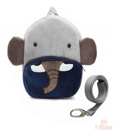 Frantic Soft Toy Plush Bag Blue Elephant