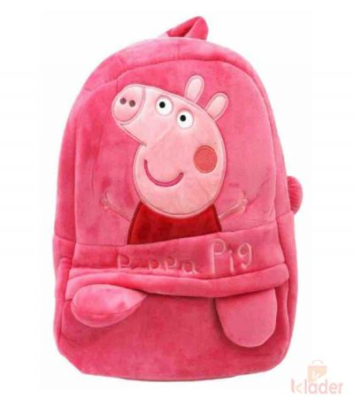 Frantic Soft Toy Plush Bag Dark Pink Peppa