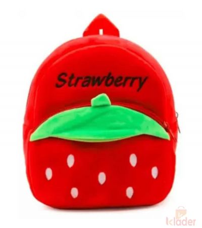 Frantic Soft Toy Plush Bag Red Strawberry