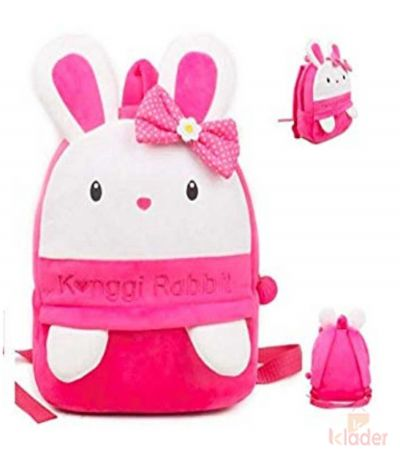Frantic Soft Toy Plush Bag Dark Pink Kongi Rabit