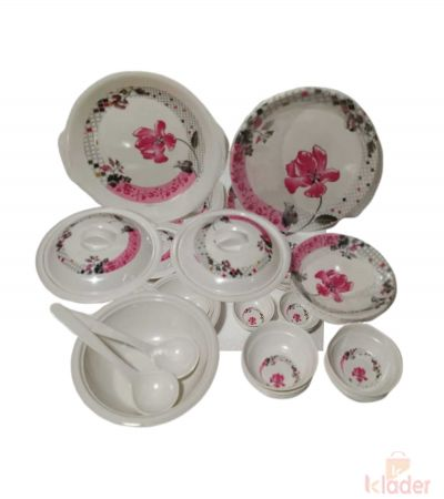 Melamine Dinnerset Assorted Designs Round Shapes Plates Set of 32 Pieces