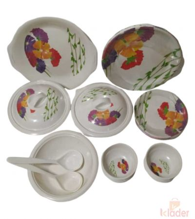 Melamine Dinner set Assorted Designs Round Shapes Plates Set of 32 Pieces