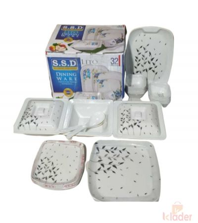 Melamine Dinner Set Heavy Square Weight 4 5 Kg Set of 32 Pieces