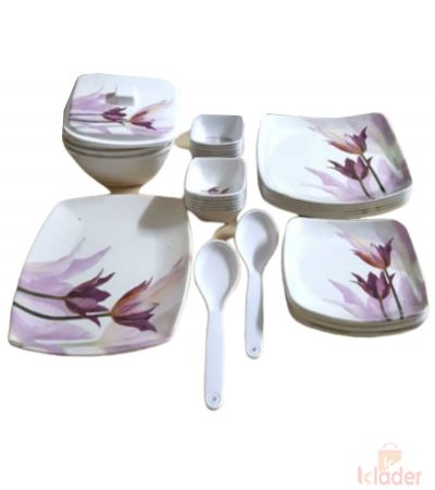 Set of 32 Pieces Melamine Dinner set