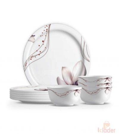 Set of 18 pieces Melamine Delta Dinner set