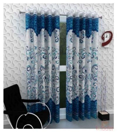 Popular Best Quality Panel Curtain Darbar Blue 10 Pieces