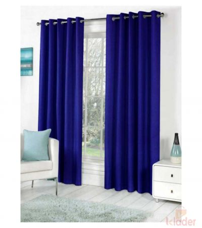 Beautiful Royal Plain Bamboo Curtain Blue Size 4x7ft 10 Pieces