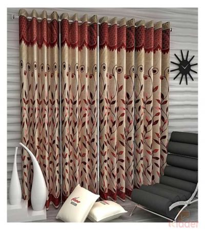Popular Best Quality Panel Curtain Bail Maroon 4x7ft 10 Pieces