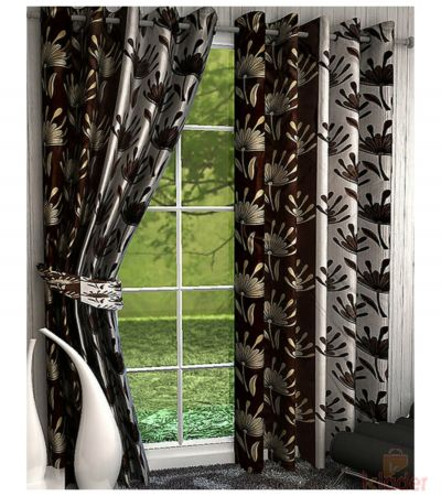 Printed Polyster Curtains 2 COLOURS