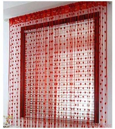 WI International Heart Shape Curtain 10 Pieces