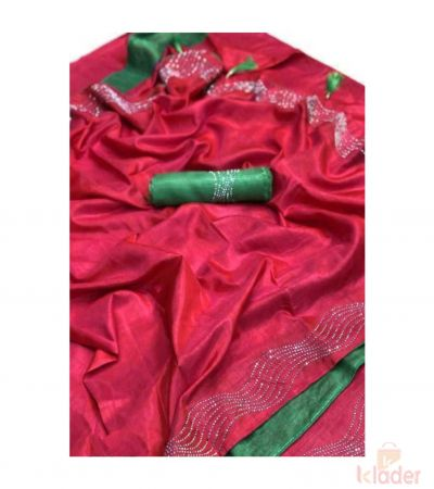 Silk Party Wear Diamond Work For Women 2Piece set
