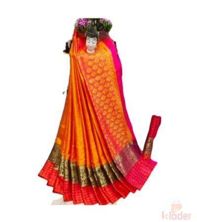 Fancy Silk Saree with heavy silk blouse piece