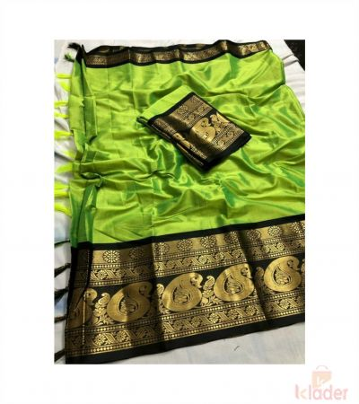 Silk Party Wear Bordered Saree For Women