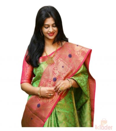 Soft Silk Reach Pallu Saree Green