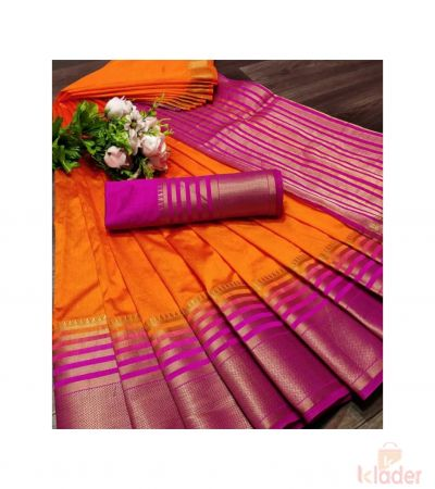 Casual Wear Bordered Saree For Women 6 Piece