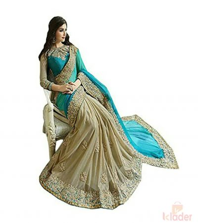 Designer Georgette And Lycra Half Saree