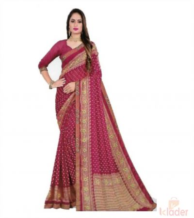 Women's Catalogue Printed Saree 4 Colour set