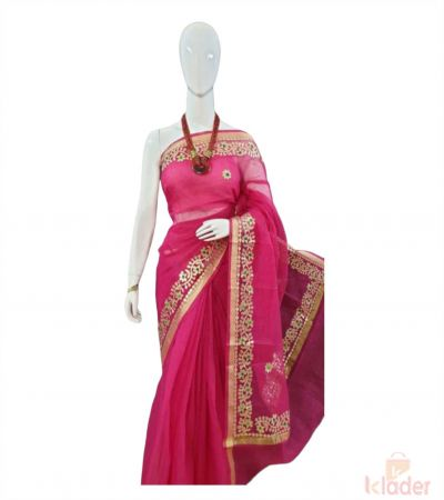 Party Wear Gotta Patti Saree For Women 8 Piece set