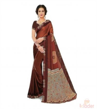 Cotton Casual Wear Hand Printed Saree For Women 6 Colours 6 Piece set