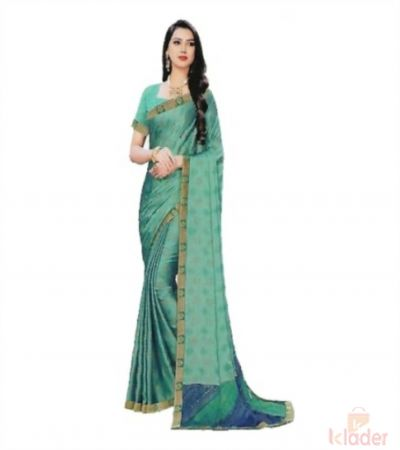 Women's Catalogue Printed Saree 6 Colours with golden border 6 Piece set