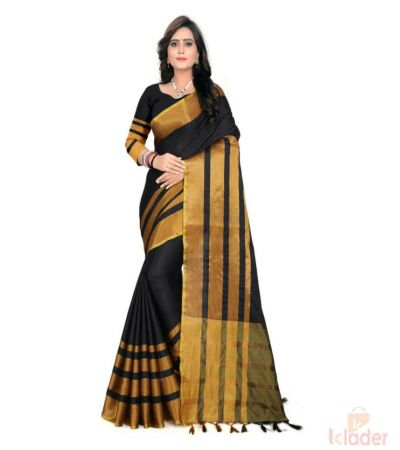 BK-CHECK PRINT COTTON SILK SAREE