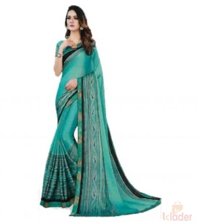 Women's Catalogue Printed Saree 6 colour with blouse piece 6 Pieces