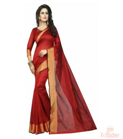 Cotton Silk Casual Wear Printed Saree for Women