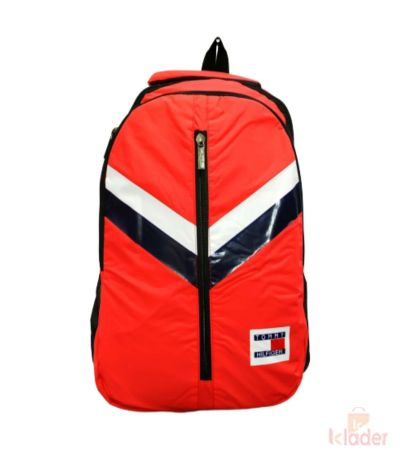 School and College Bag 25 Ltr Red, Black and White