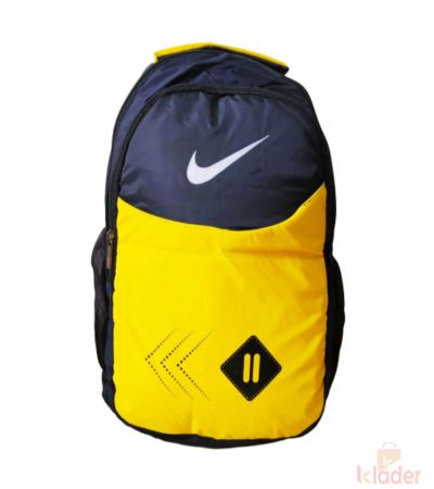 School and College Bag 25 Ltr Yellow and Black 4 Piece
