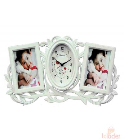 Clock with Photo Frame 6 Piece