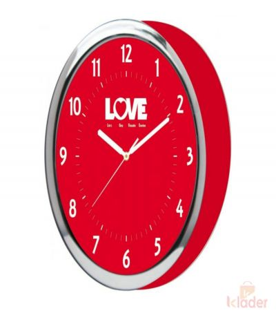 Pink Love Wall Clock 3 Piece